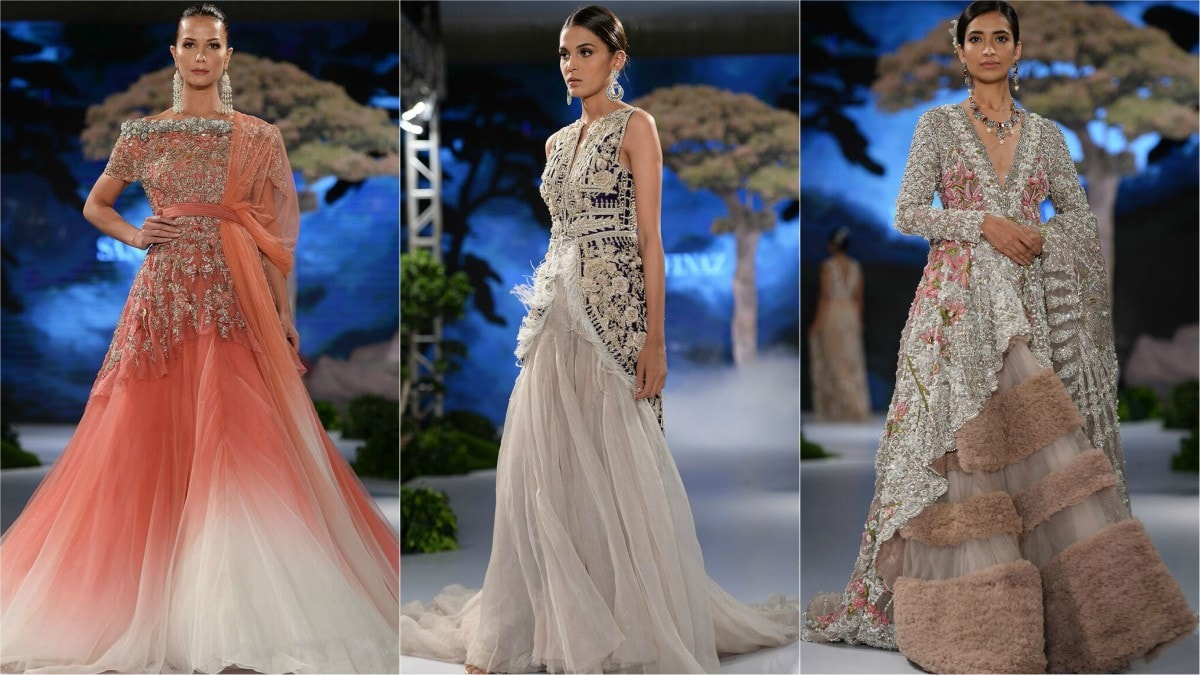 The label's use of net tulles is very reminiscent of Zuhair Murad pieces, who we also adore!