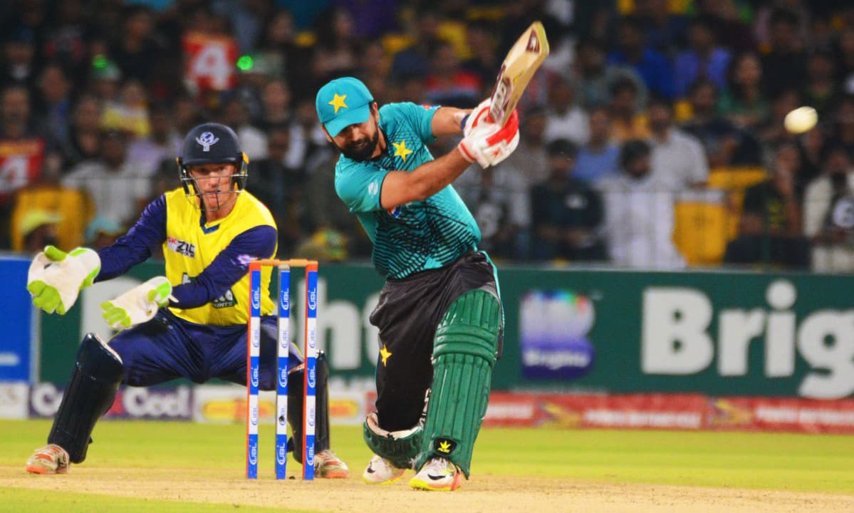 Ahmed Shehzad racked up 89 runs off 55 balls in the first innings. ─ Photo courtesy PCB official Twitter