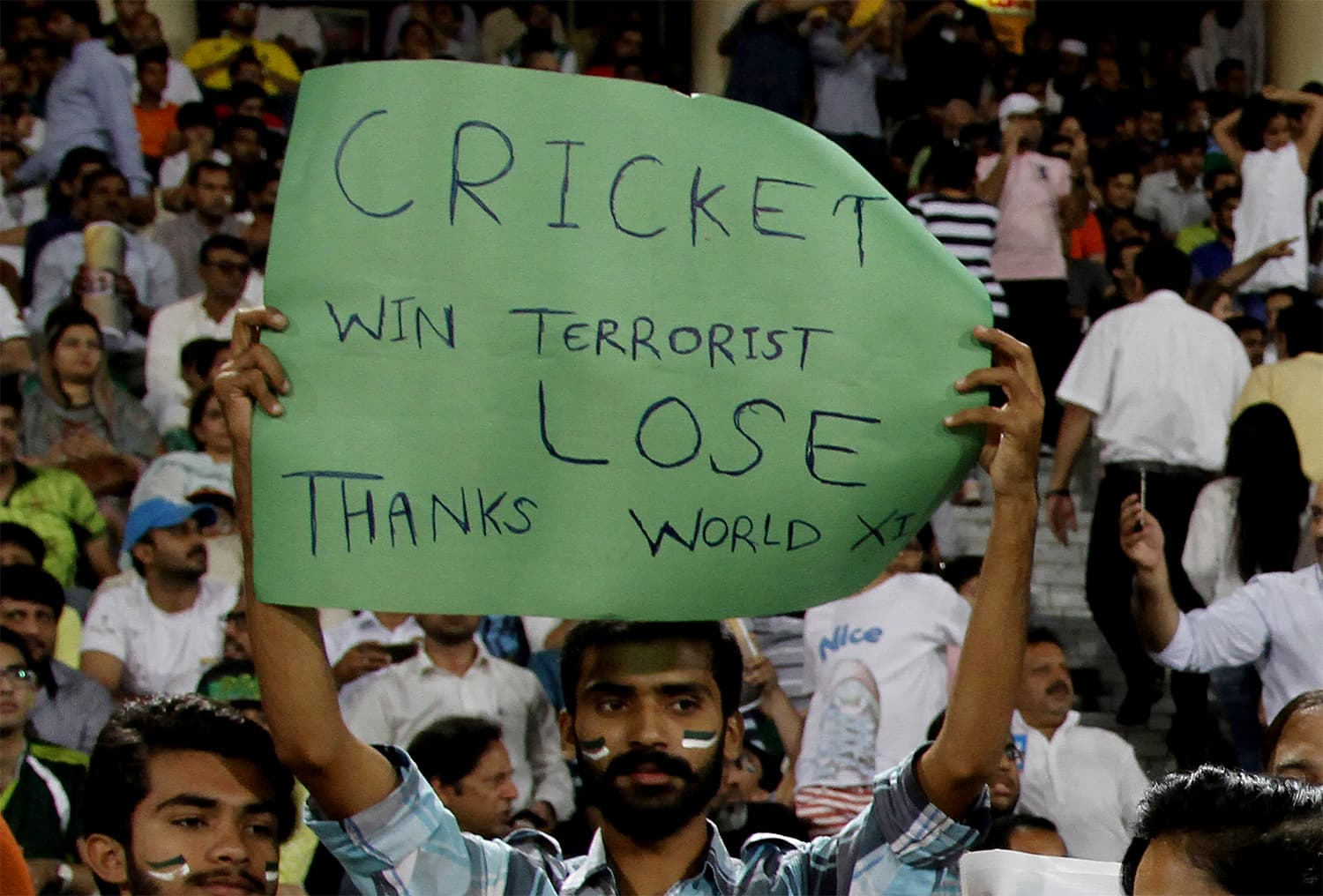 In Pictures Pakistan World Xi Face Off In Gripping Independence