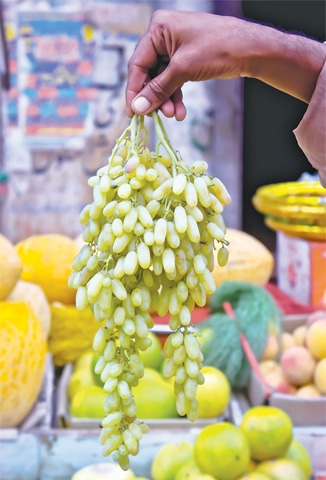 The Sundarkhani variety of grapes are sweet and popular.