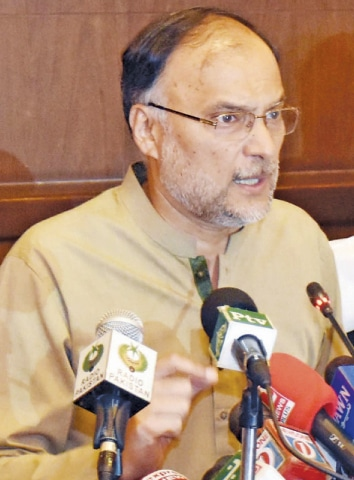 INTERIOR Minister Ahsan Iqbal says Pakistan's parliament is no orphanage — it is being discredited and some other institutions are transgressing their jurisdiction.