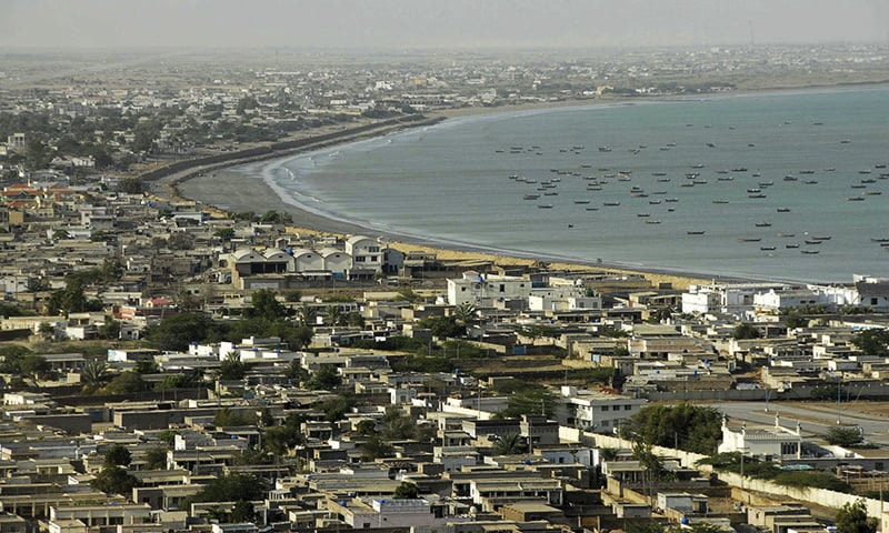 A general view of Gwadar city.— Reuters