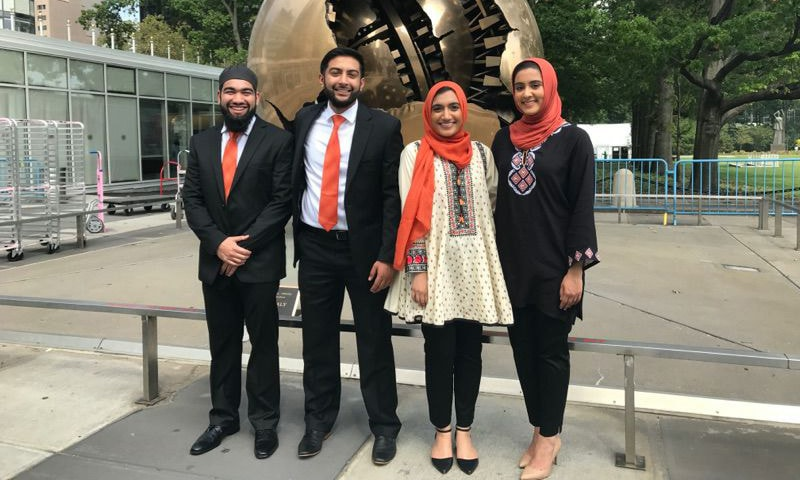 Four Pakistani American students won the prestigious Hult Prize award.─Photo courtesy: Facebook