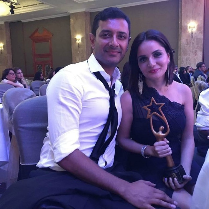 Armeena Khan and fiance Fesl Khan at the IPPA awards