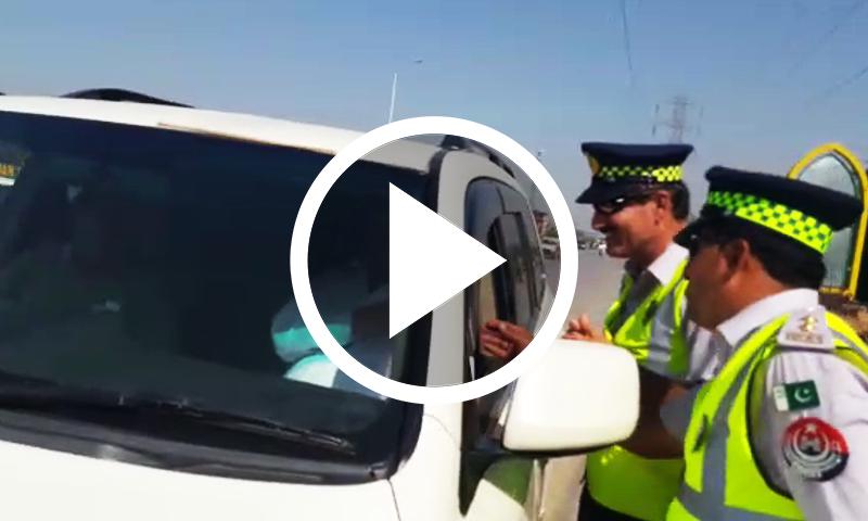 پشاور میں وزیر ایکسائز اینڈ ٹیکسیشن کی گاڑی کا چالان