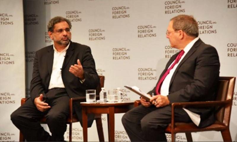 امریکا سے تعلقات افغانستان کی بنیاد پر نہیں: شاہد خاقان عباسی