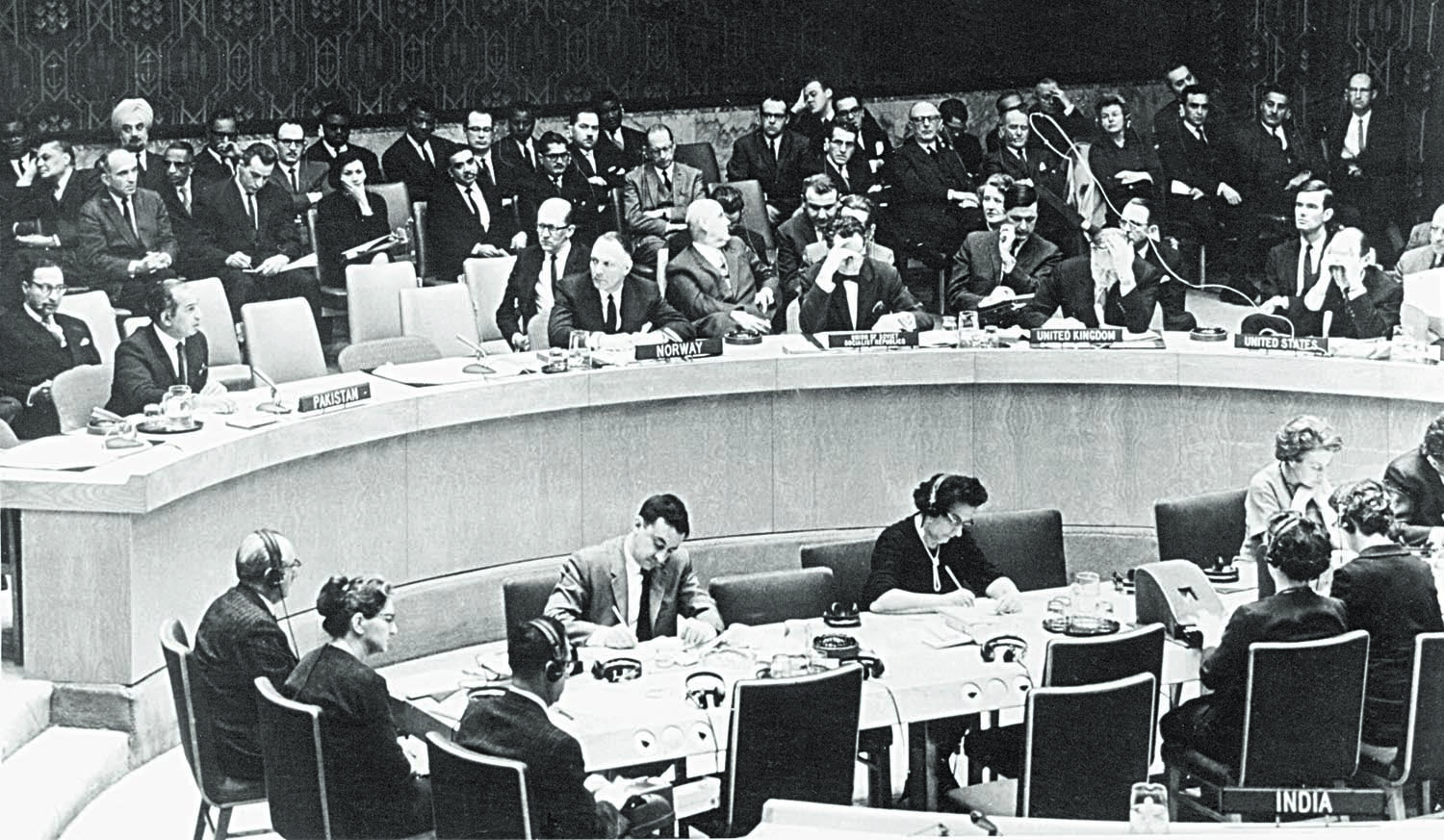 Zulfikar Ali Bhutto at one of the several United Nations Security Council meetings ahead of the fall of Dhaka. | The Directorate of Electronic Media and Publications [DEMP], Ministry of Information, Broadcasting & National Heritage, Islamabad & Karachi.