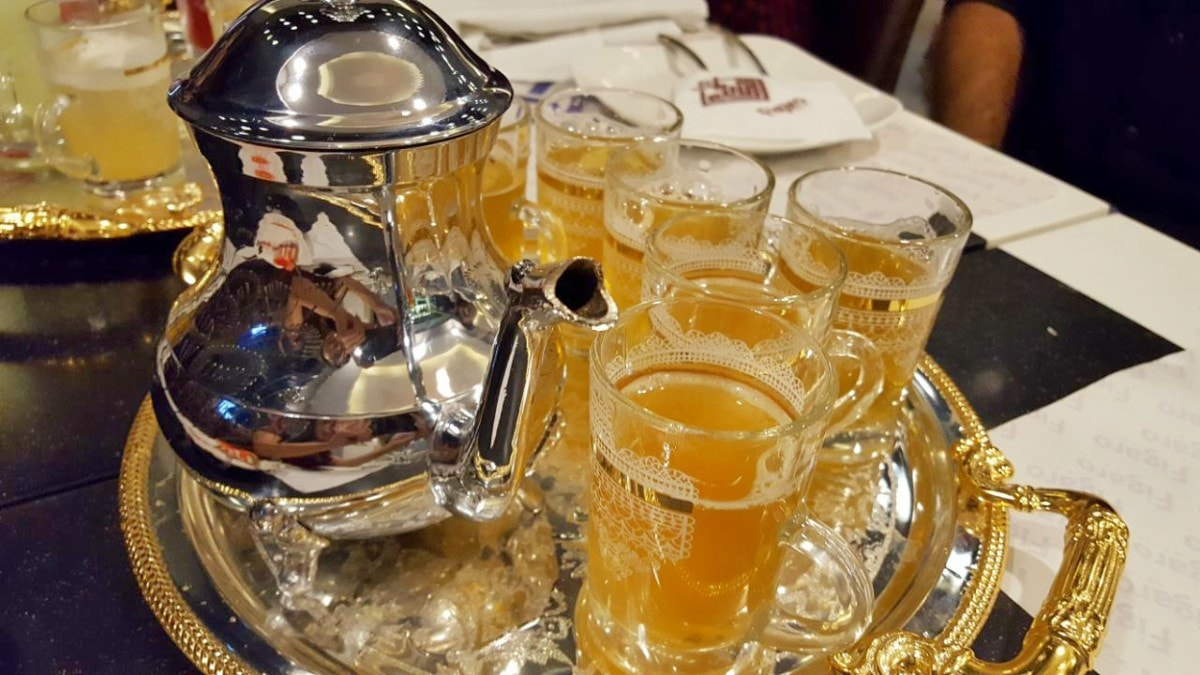 We love the presentation of the Moroccan tea