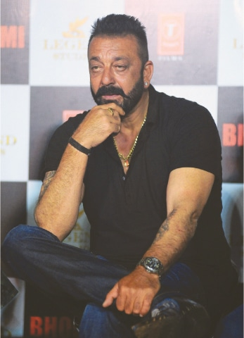 This Aug 10 file photo shows Indian Bollywood actor Sanjay Dutt during the trailer launch of film 'Bhoomi' in Mumbai.—AFP