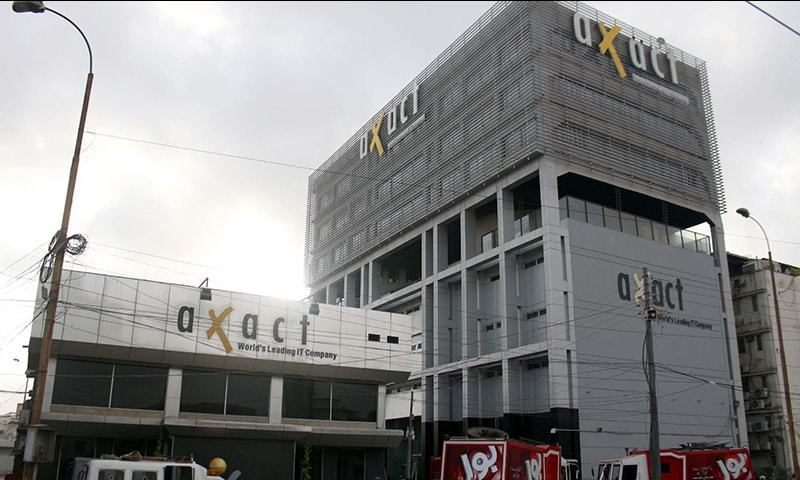 The Axact offices in Karachi.— PPI/File