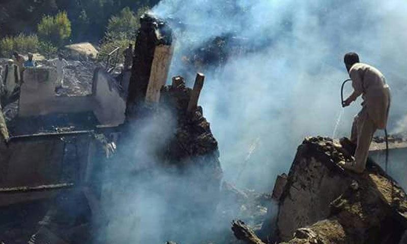 اپردیر میں مکان میں آتشزدگی سے 6 بہن بھائی جاں بحق