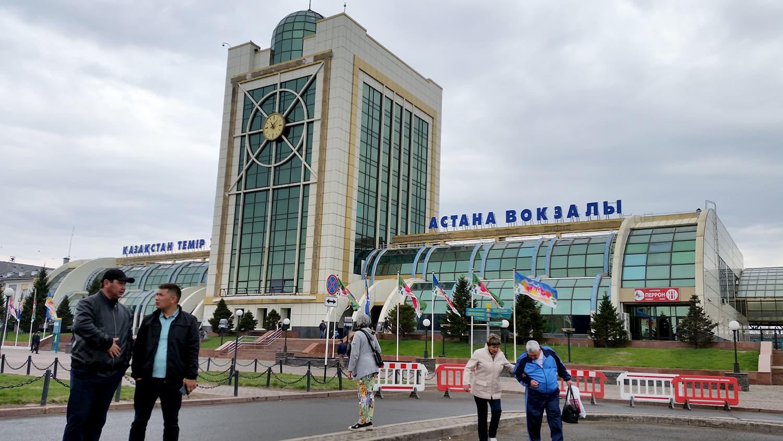 Astana Railway Station, Kazakhstan.
