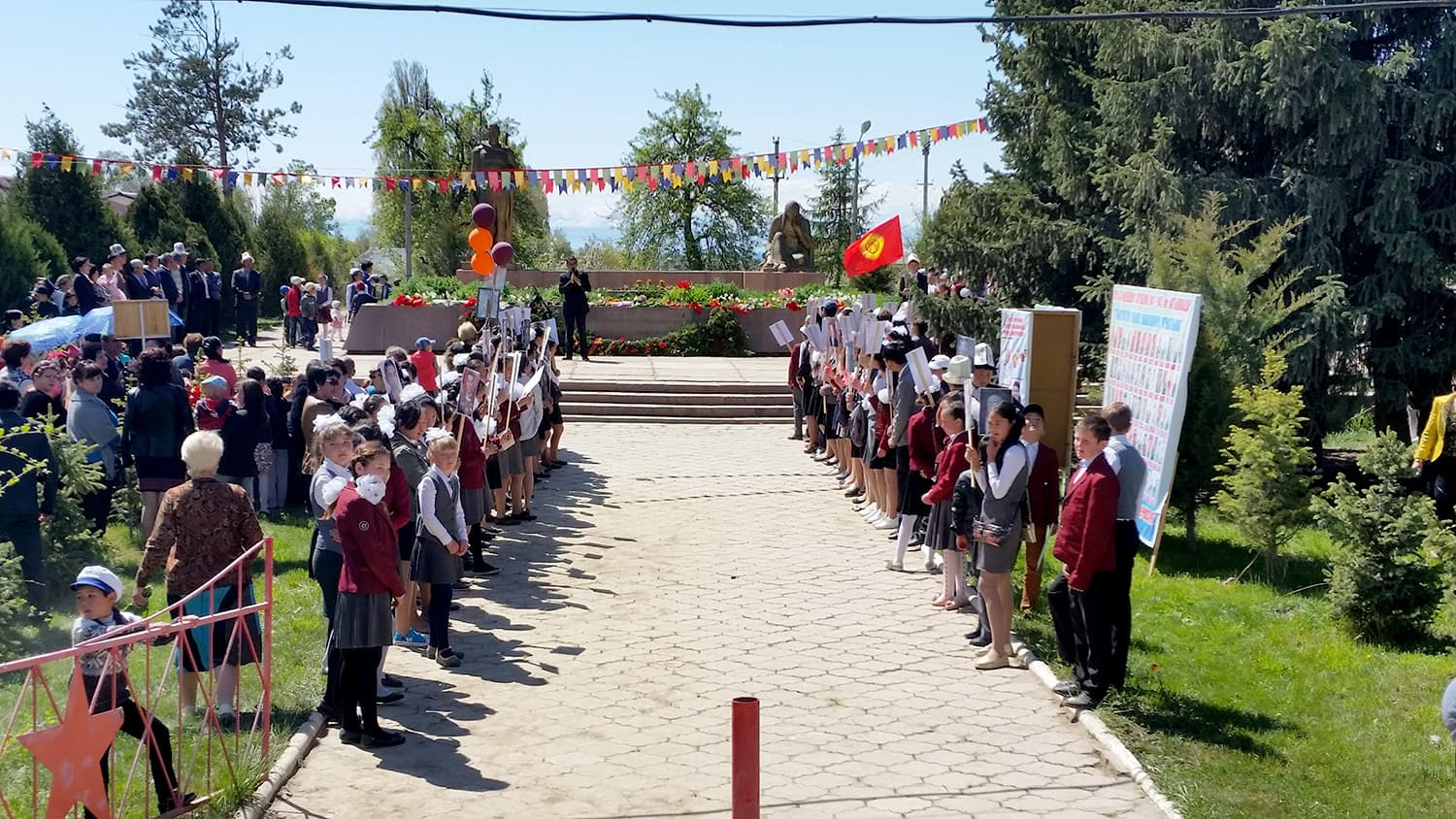 Honouring martyrs of Soviet-German war in Kyrgyzstan.