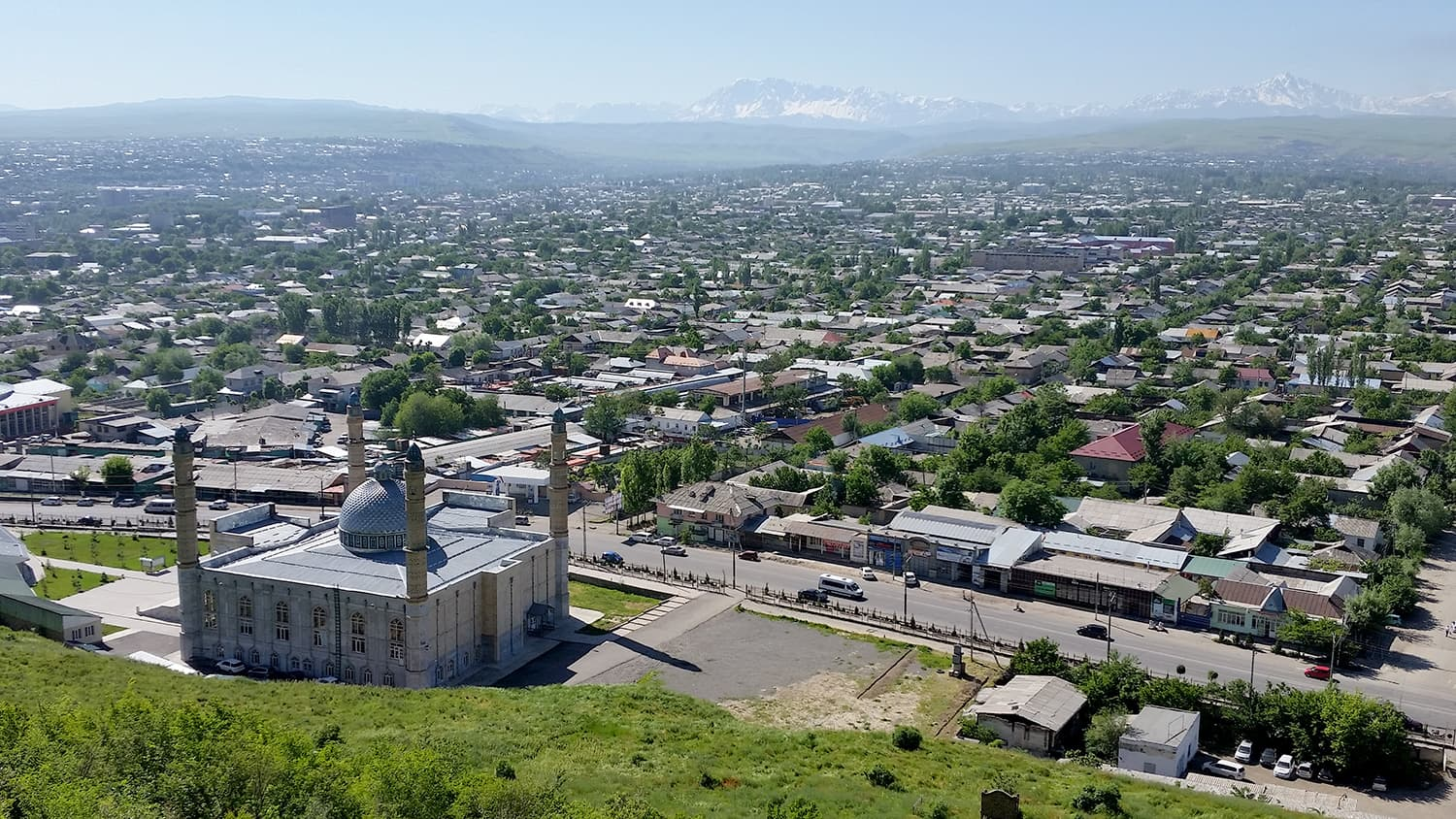View of Osh in Kyrgyzstan.