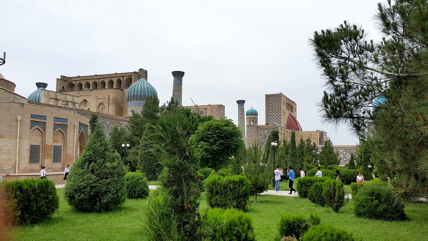Registan area view, Samarkand. -All photos by author
