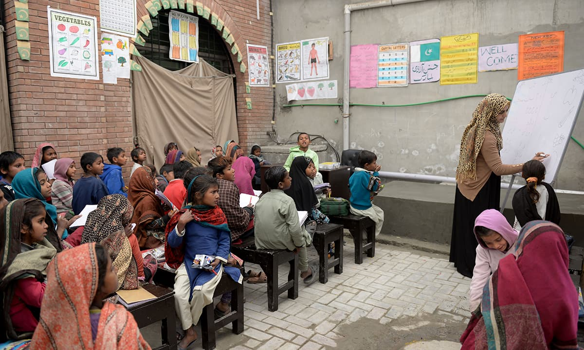 A classroom in a Lahore township school run by an NGO | Murtaza Ali, White Star