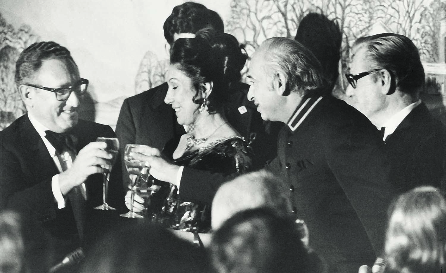 Prime Minister Zulfikar Ali Bhutto was as comfortable, if not more, in the company of foreign dignitaries as he was with the masses at home. He is seen here in Washington DC with United States Secretary of State Henry Kissinger (left) during a visit in February 1975. Seen in the middle is Begum Nusrat Bhutto.