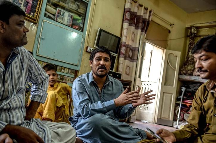 From left: Faiz Muhammad, Shaukat Ali and Ahmed Ali