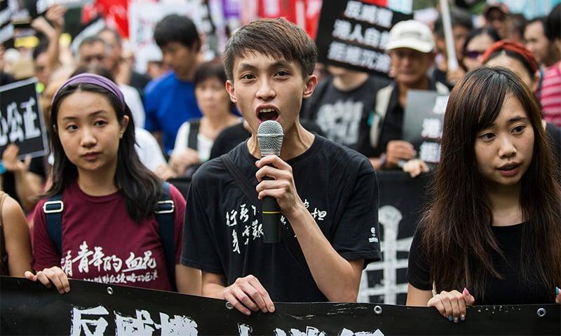 Hong Kong democracy rally marks China national day