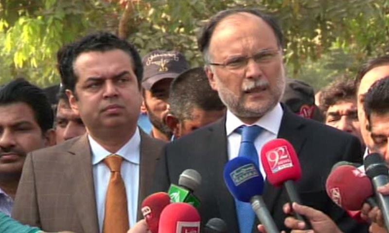 'Whose orders is Rangers following?' Ahsan Iqbal lashes out at force for blocking entry to court