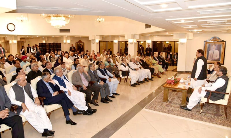 Islamabad: Prime Minister Shahid Khaqan Abbasi attends the PML-N Central Working Committee meeting  on Monday.