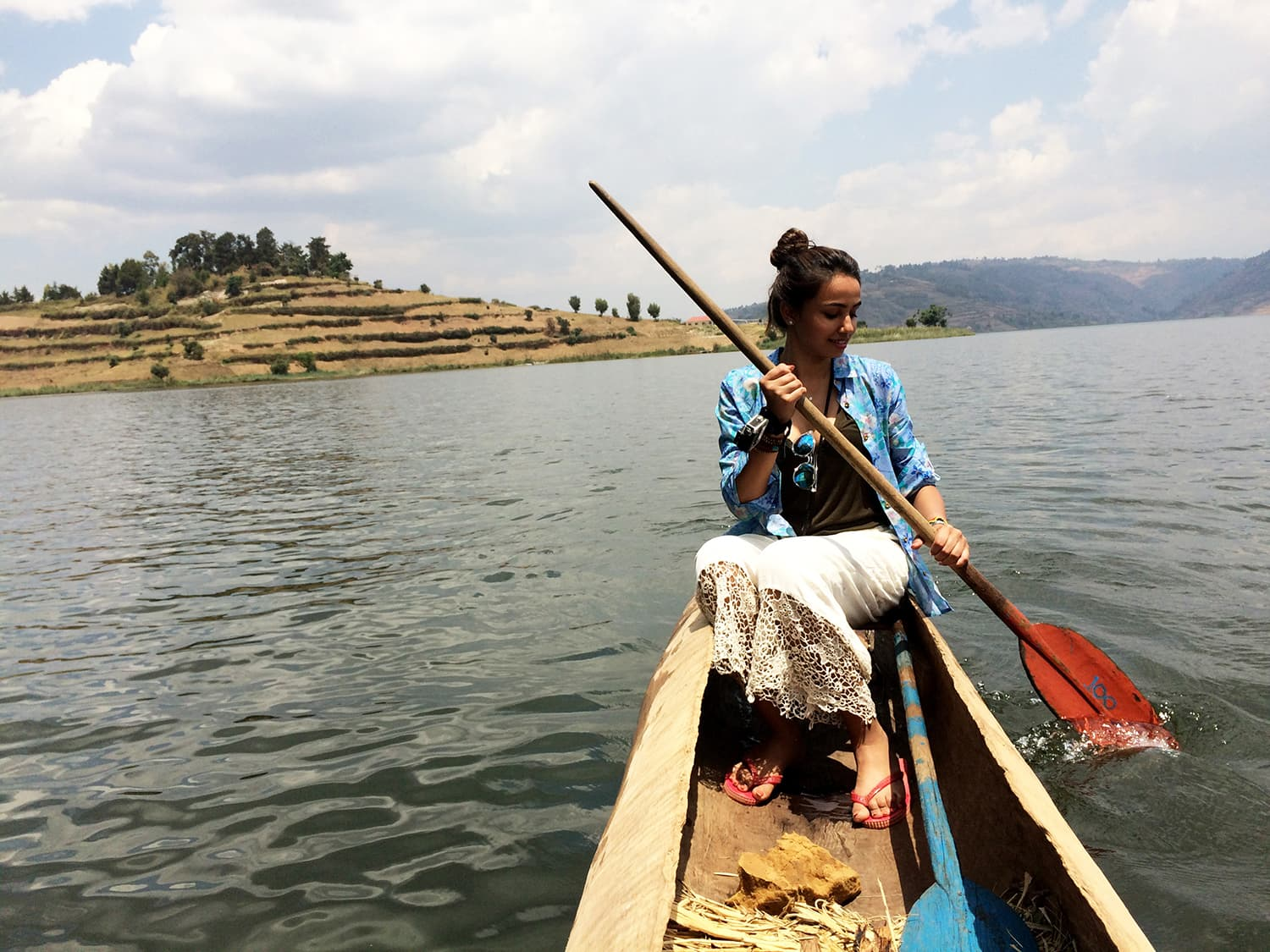 Canoeing on the bewildering Lake Bunyonyi, Uganda. -All photos by author