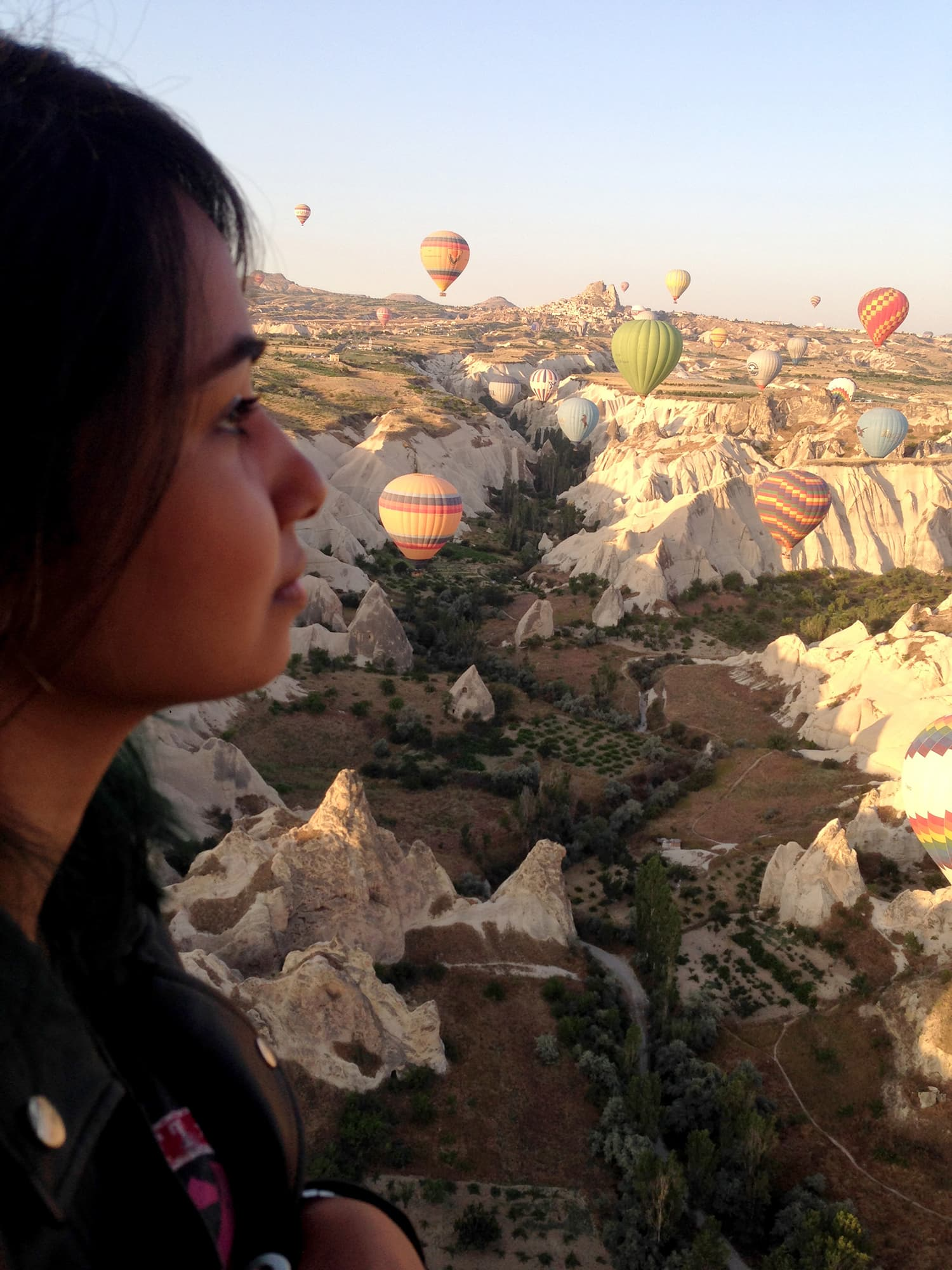 Hot air balloon ride in Cappadocia, Turkey.