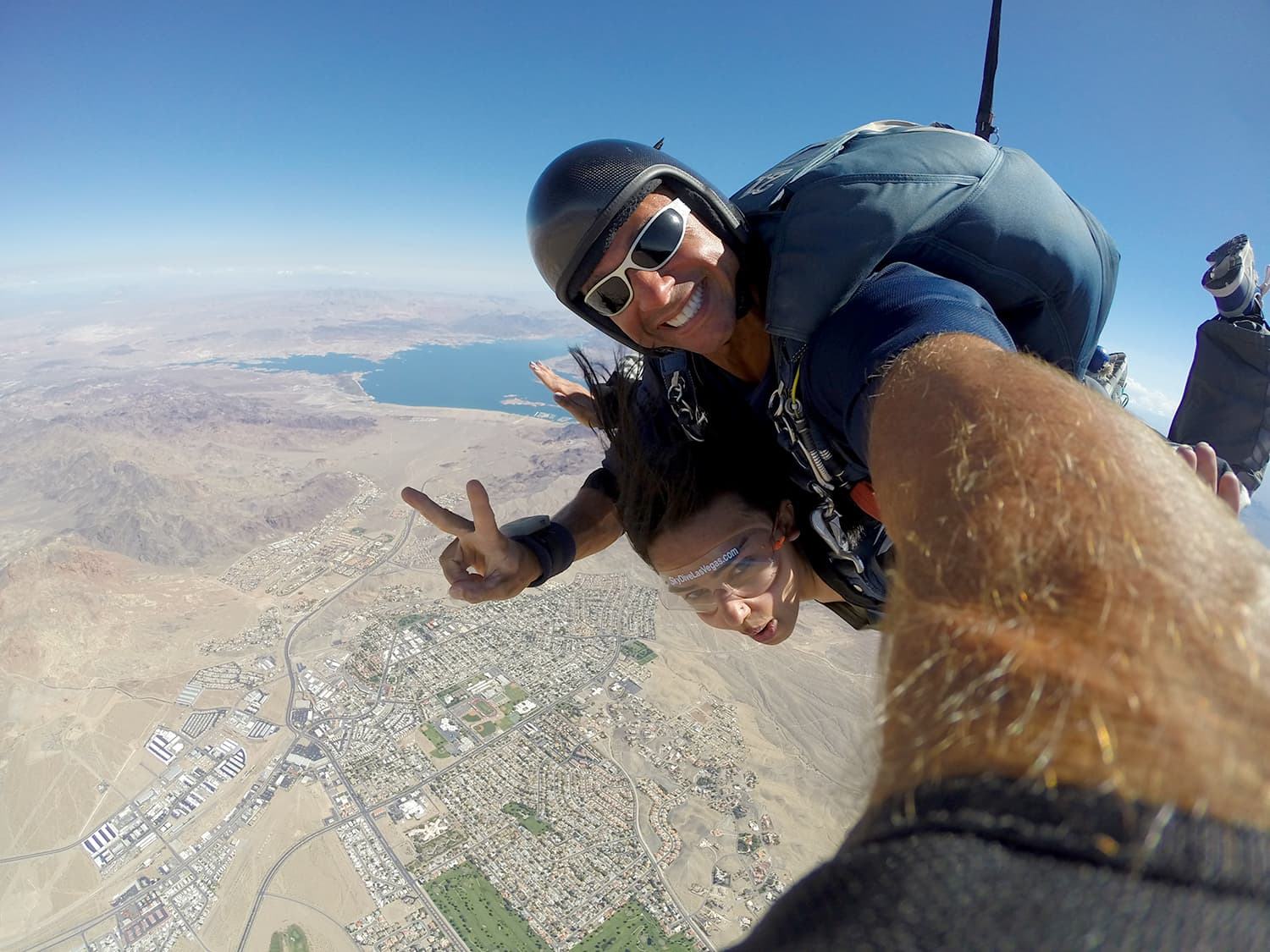 Skydiving over Nevada.