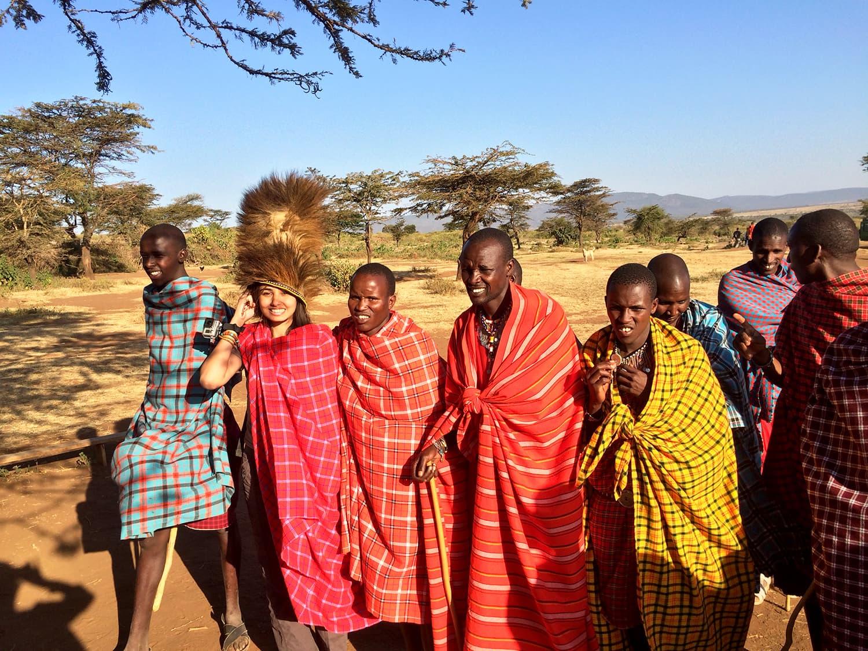 Visit to Masai Village, Africa.