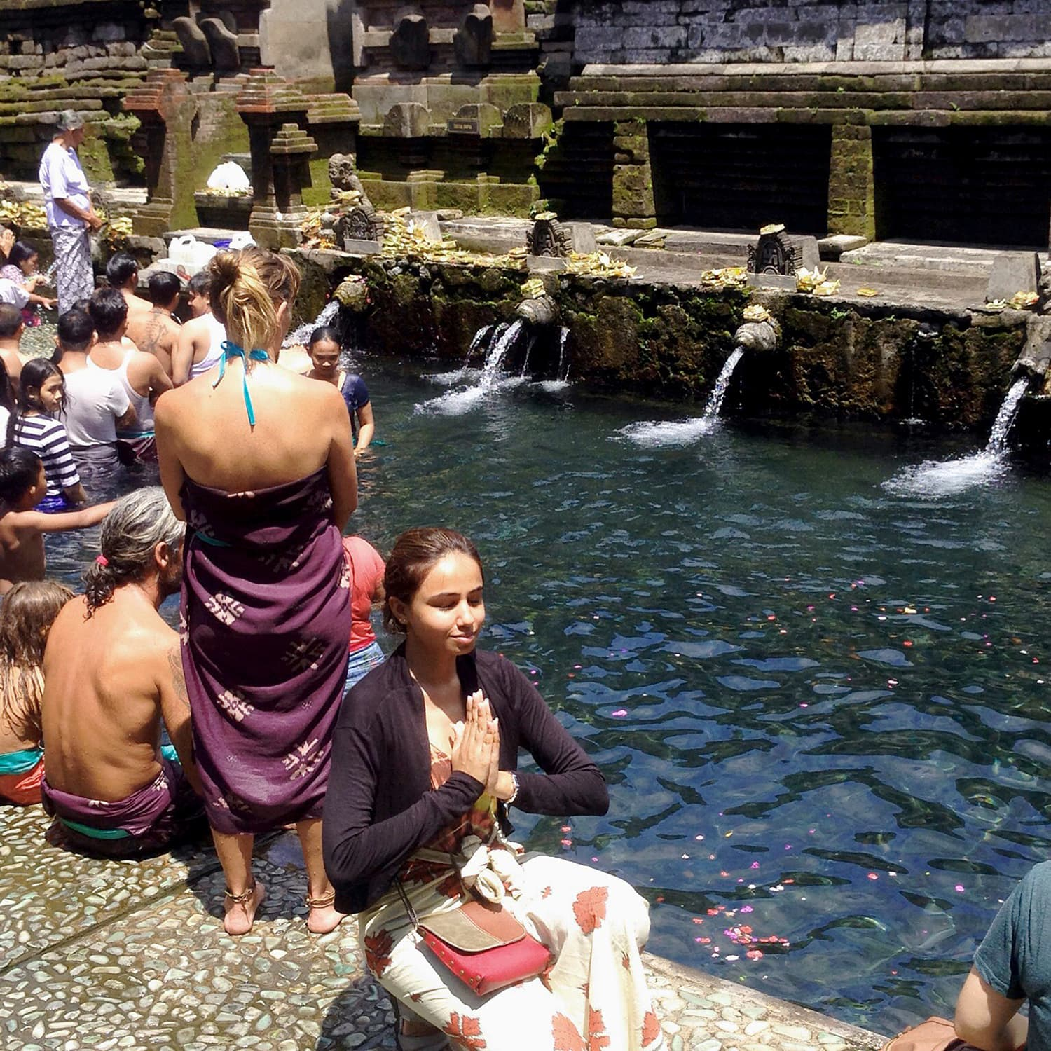 At a Hindu temple located in Pura Tirtha Empul, Tampaksiring, East Bali famous for the holy springwater bath.