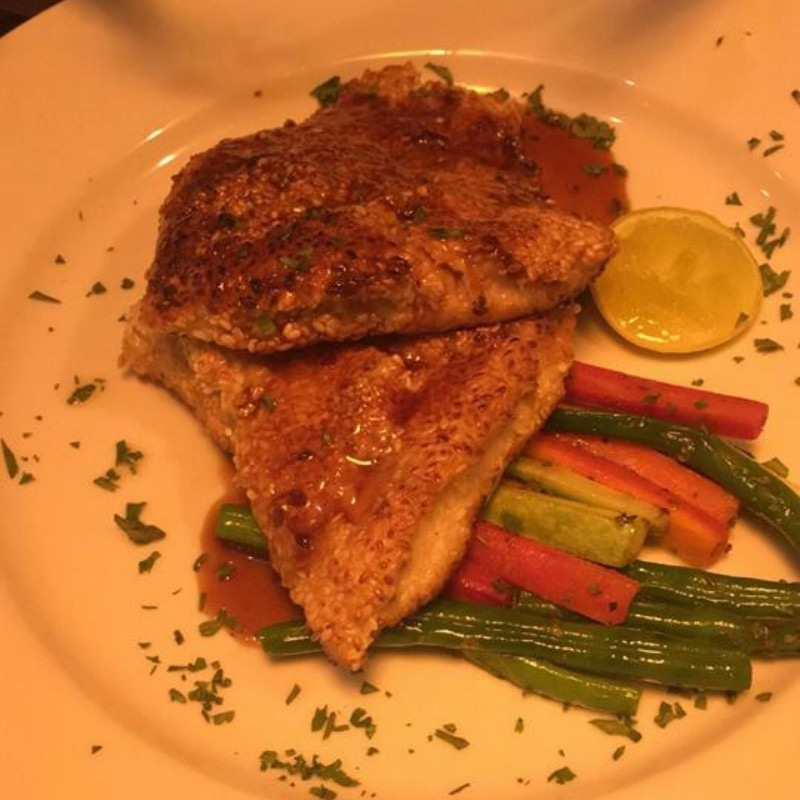 The red snapper at Evergreen pictured in horrid lighting at night