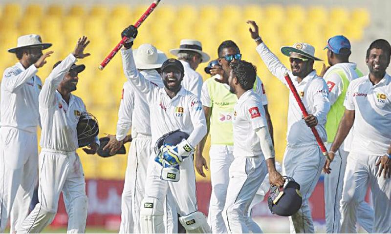 The triumphant Sri Lankans