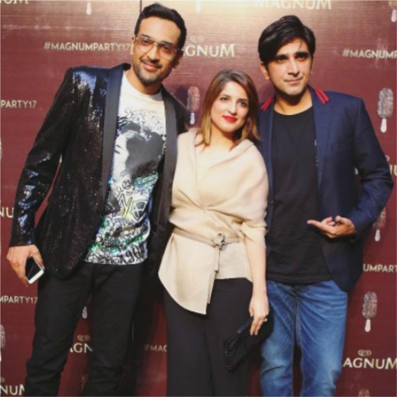 From left to right: Ali Sethi, Nafisa and Ali Hamza