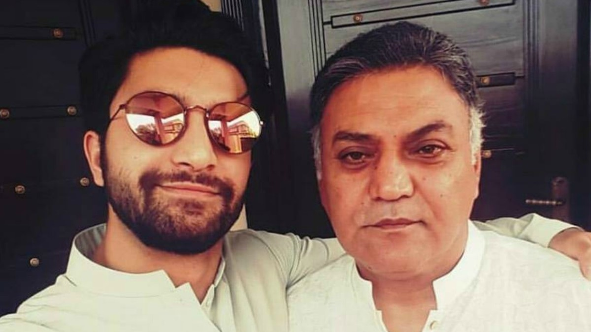 With his father, veteran actor Asif Raza Mir