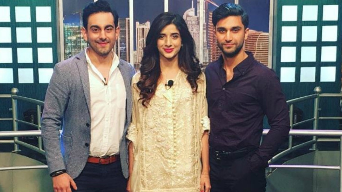 Bilal Khan, Mawra Hocane and Ahad Raza Mir during Sammi promotions