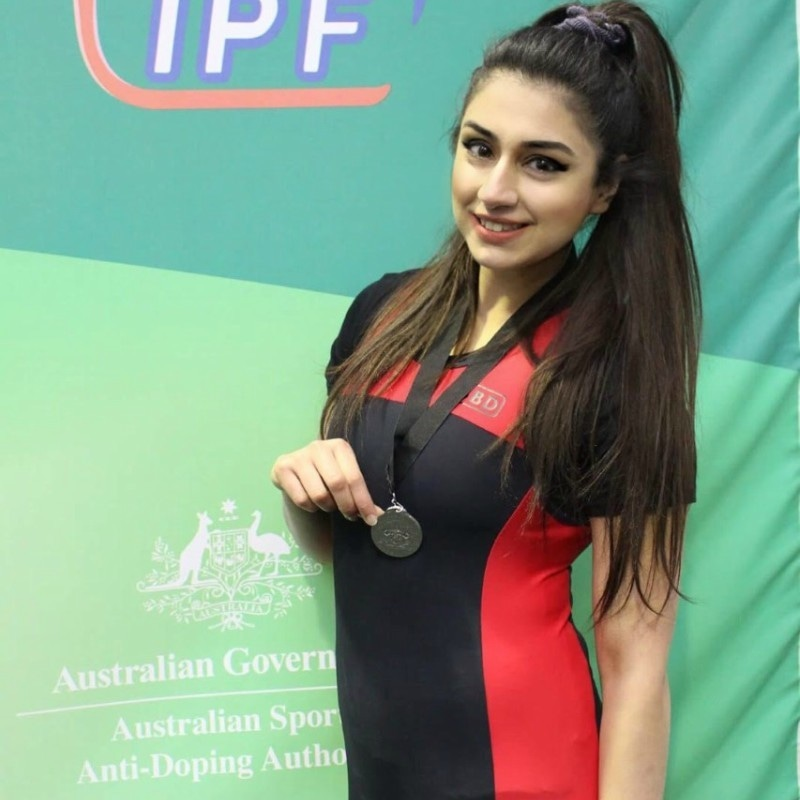 Maryam has won a silver medal in weightlifting