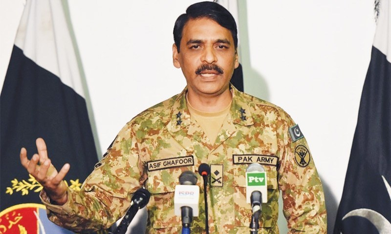 The Director General of Inter-Services Public Relations, Maj Gen Asif Ghafoor. Photo: File