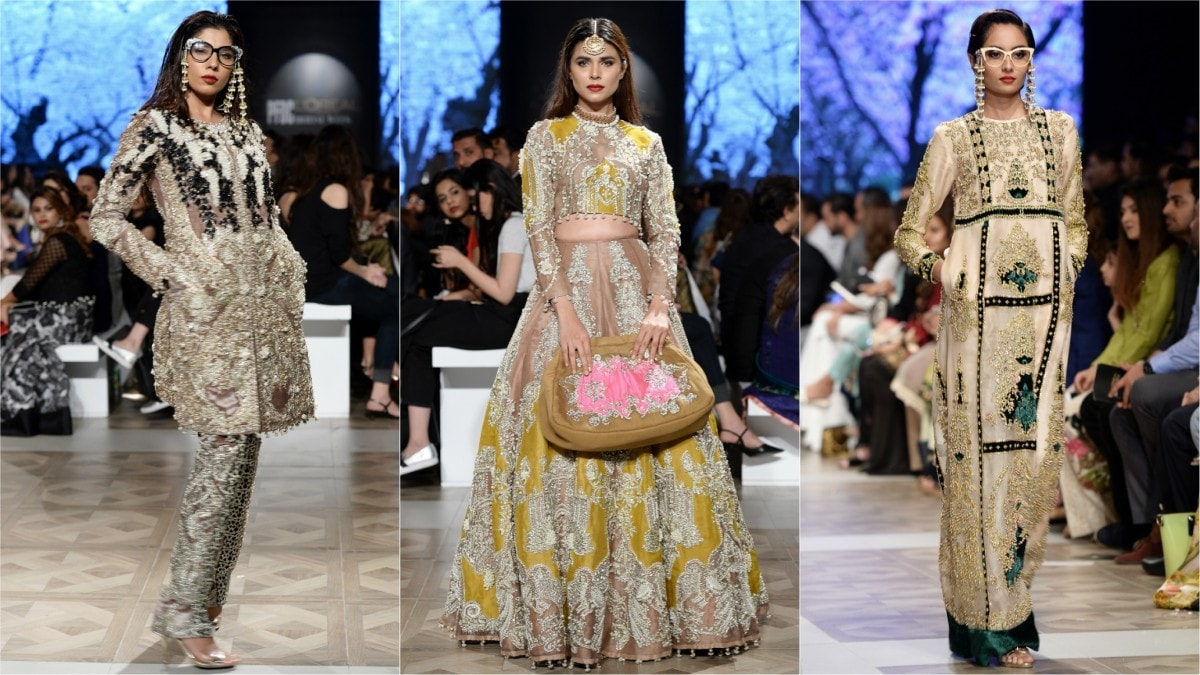 Ali Xeeshan's wedding-wear collection at the recent PLBW.