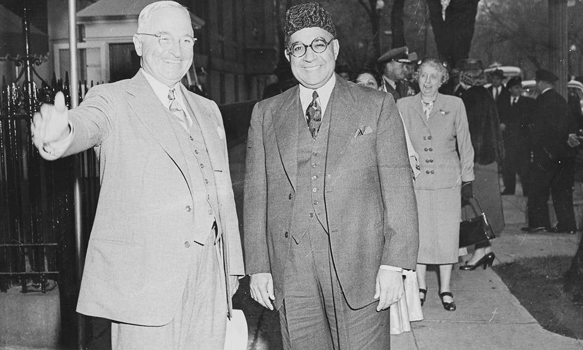Liaquat Ali Khan with President Harry Truman in Washington DC | Creative Commons