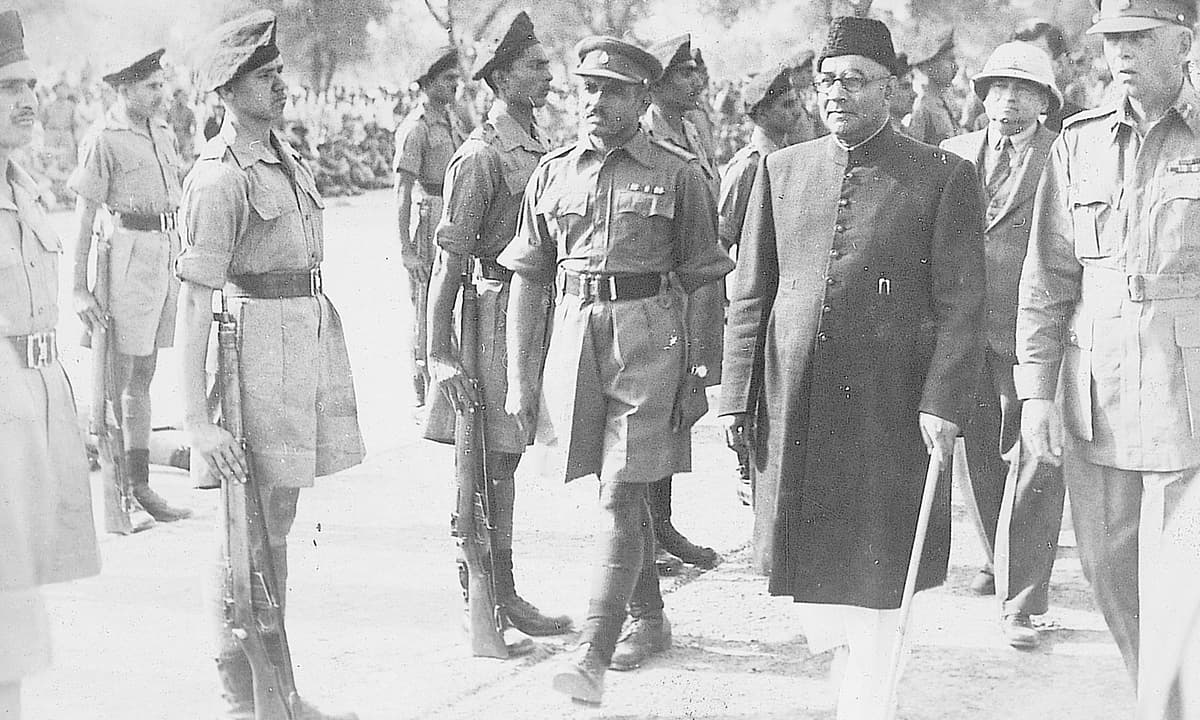 Liaquat Ali Khan at the Punjab Regiment | White Star