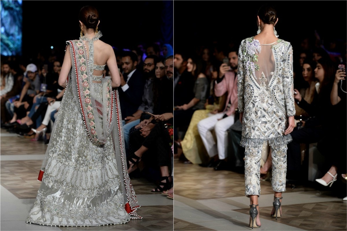 Go backless without going backless in Saira Shakira (L) and Sana Safinaz (R)