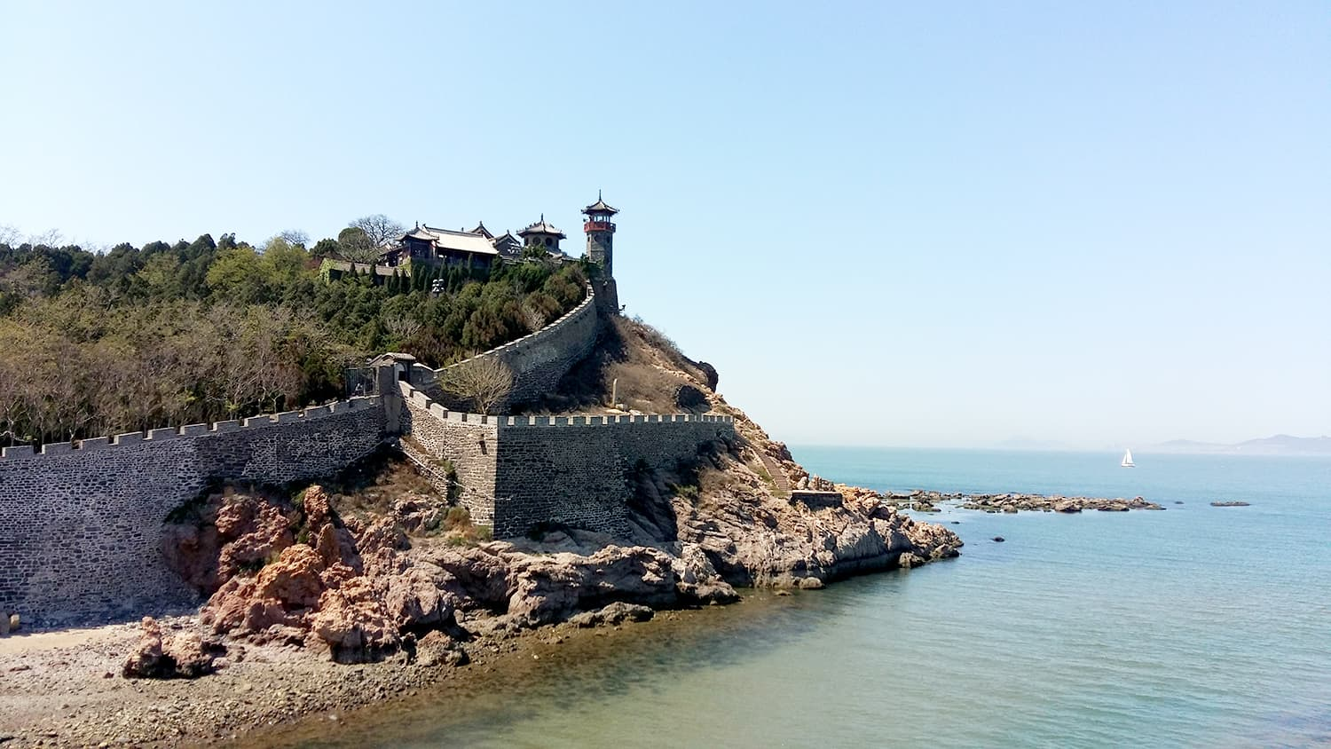 Highlight of the day: Penglaige Tourism Area in Penglai.