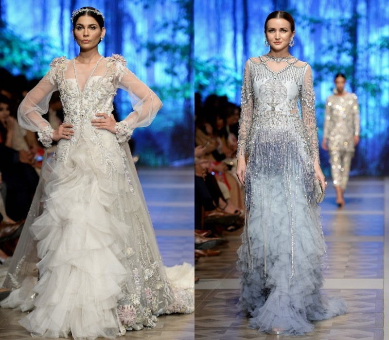 Sana Safinaz led the eveing gown as wedding wear style