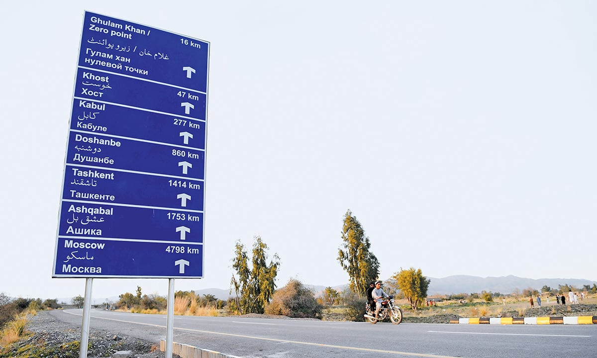 A signboard on the Bannu-Miran Shah-Ghulam Khan route | Abdul Majeed Goraya, White Star
