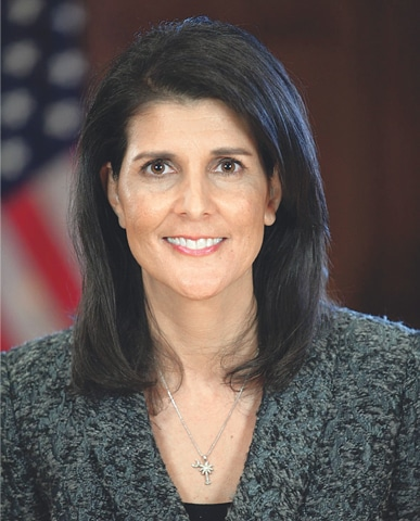 US Am­bassador to the UN Nikki Haley says America's interest in Afghanistan and South Asia is to eliminate terrorist safe havens
