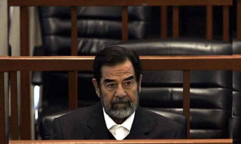 صدام حسین کو 30 دسمبر 2006 کو پھانسی دی گئی تھی—فائل فوٹو: اے ایف پی