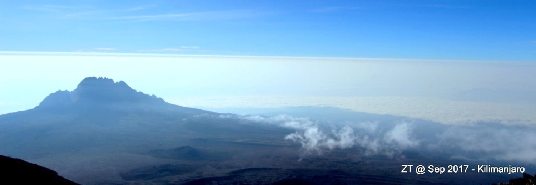 The day starts in Africa - Muwenzi Peak.