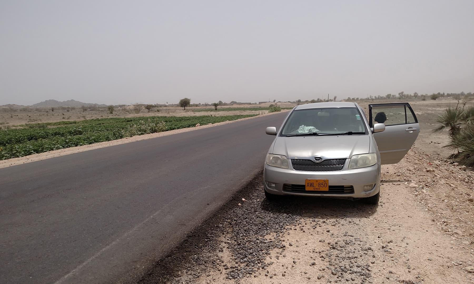 وہ کار جس میں ہم نے سفر کیا—تصویر عبیداللہ کیہر