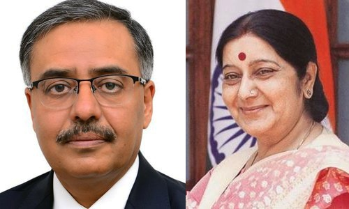 Pakistan envoy to New Delhi meets Indian FM Sushma Swaraj: report