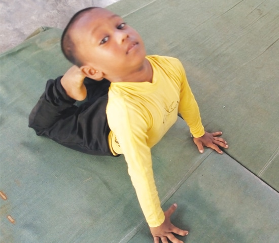 Children's flexible bodies lend themselves to gymnastics